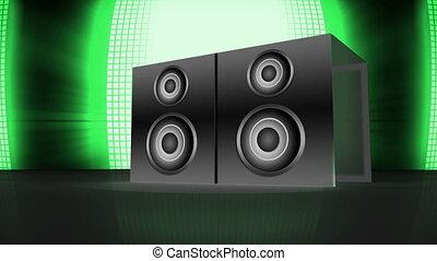 3d speaker exploding to reveal mont