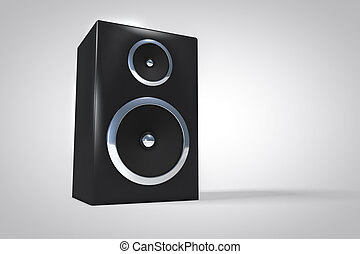 3D speaker or amplifier background.