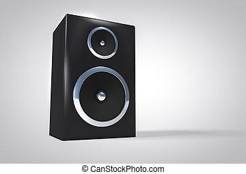 3D speaker or amplifier background.