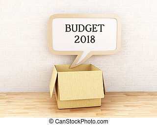 3d Speech bubble Budget 2018