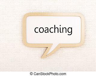 3d Speech bubble coaching