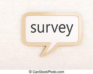 3d Speech bubble survey