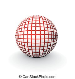 3d sphere - 3d vector abstract ball with raster image of...