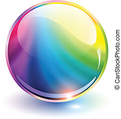 3D sphere rainbow colors, vector illustration