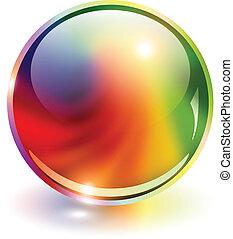 3D sphere rainbow colors, vector illustration.