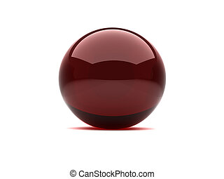 3d sphere - 3d glossy red sphere