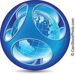 3D Sphere Surface with a globe
