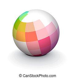 3D sphere - 3D colorful sphere design, vector illustration.