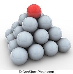 3d spheres pyramid