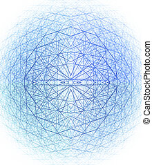 3d spherical structure. Computer generated this image