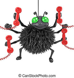 3d Spider answers the phones