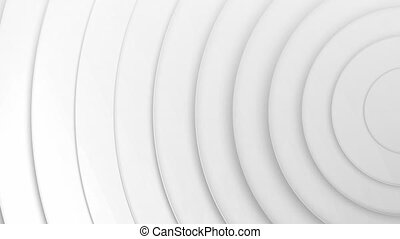 3D spiral coils moving against white background
