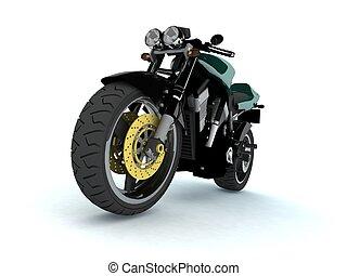 3d sport bike on wight backgraund