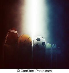 3D sports balls backgrounds