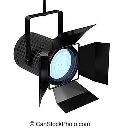 3d Spotlight - 3d render of a single spotlight