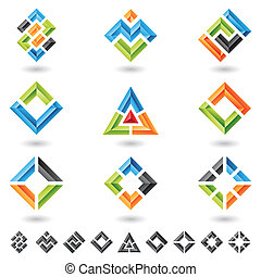 squares, rectangles, triangles - 3d squares, rectangles, ...