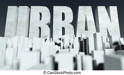3d, städtisch, stadt, begriff, modell, von, cityscape