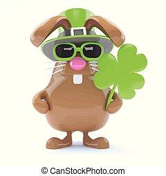 3d St Patricks bunny