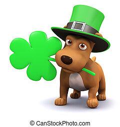 3d St Patricks puppy - 3d render of a dog celebrating St ...