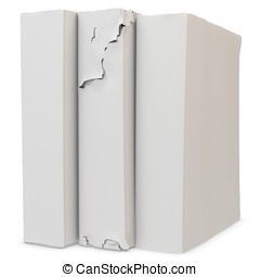 3d stack of blank old books