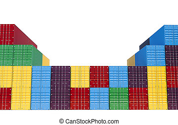 3d stacked cargo containers