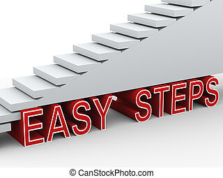 3d stairs easy steps