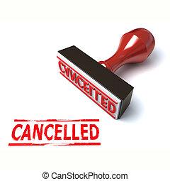 3d stamp cancelled illustration