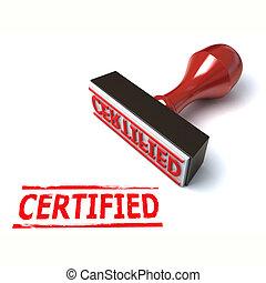 3d stamp certified illustration