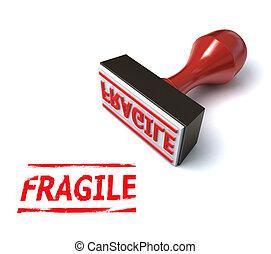 3d stamp fragile
