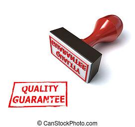 3d stamp quality guarantee illustration