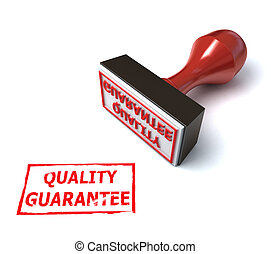 3d stamp quality guarantee illustration