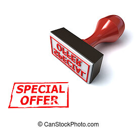 3d stamp special offer illustration