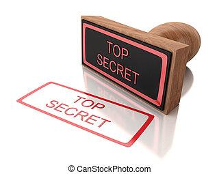 3D stamp top secret