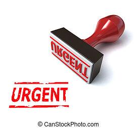 3d stamp urgent  illustration