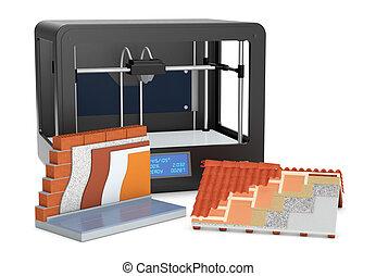 Casa concetto assicurare casa lucchetto render 3d for Aprire case di concetto