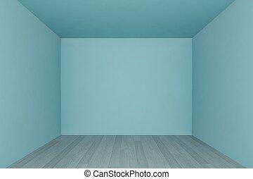 3d, stanza, pavimento, parete, legno, interno, vuoto