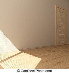 3d, stanza, vuoto, contemporaneo