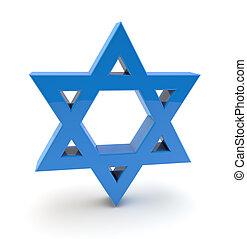 3d star of david symbol