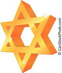 3D Star of David vector icon