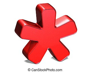 3D Star Red Sign