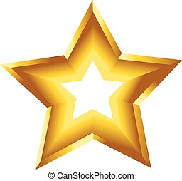 3d star vector illustration symbol golden