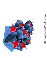 3d stars - 3d rendered illustration of some colorful stars