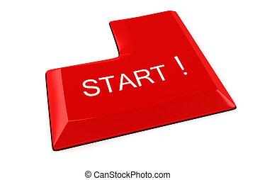 3d START Button