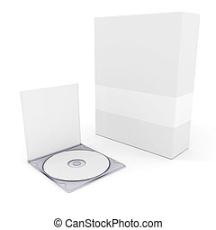 3d stationery blank documents, on white background