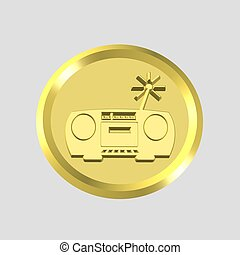 3d stereo icon - computer generated clip-art