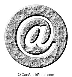 3D Stone Email Symbol