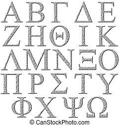 3D Stone Greek Alphabet