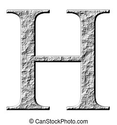 3D Stone Greek Letter Eta