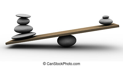 3d stones balance - 3d render of pebble stability scale
