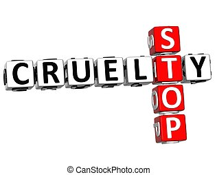 3D Stop Cruelty Crossword